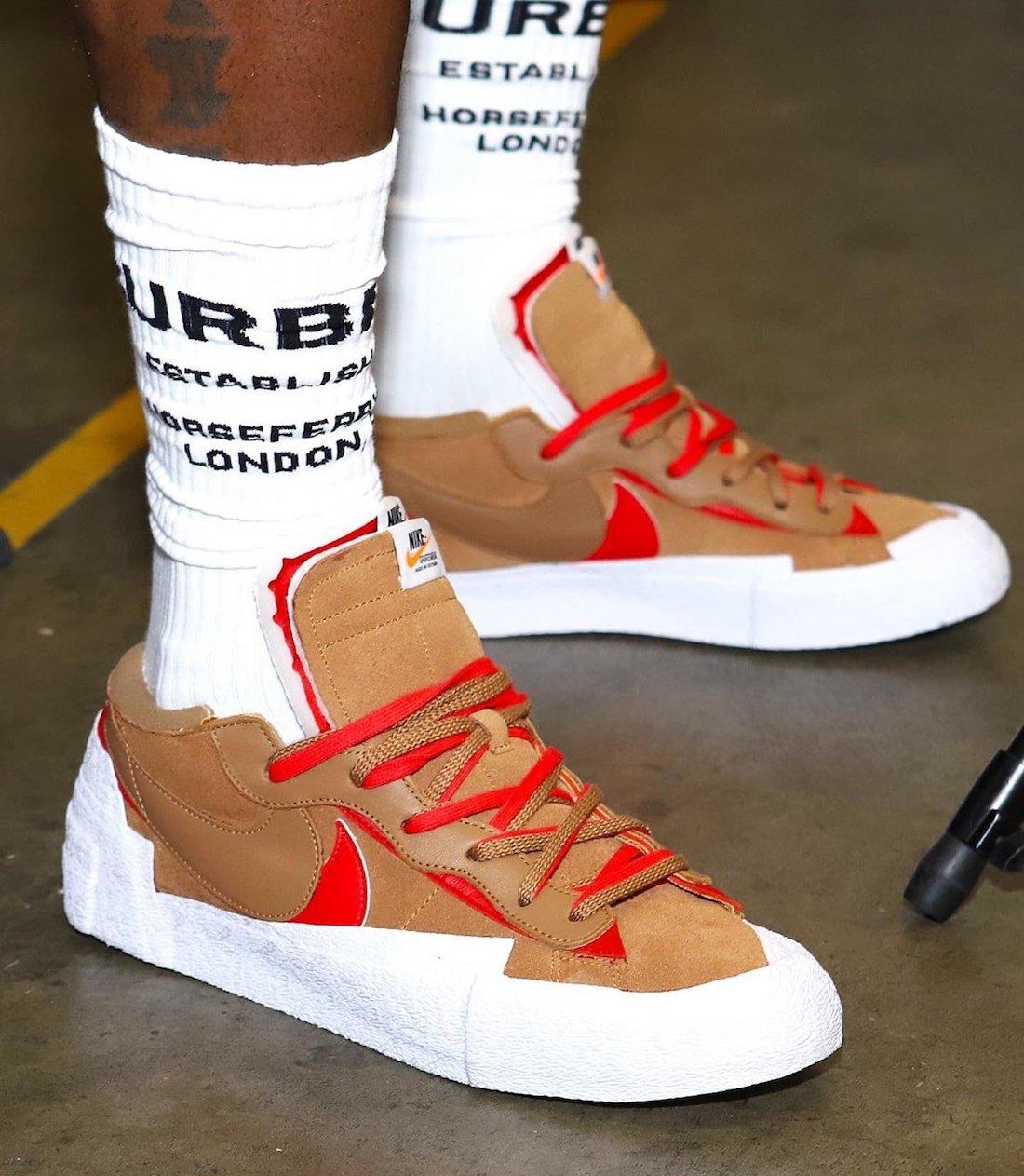 Sacai Nike Blazer Low Light British Tan DD1877-200 Release Date Info