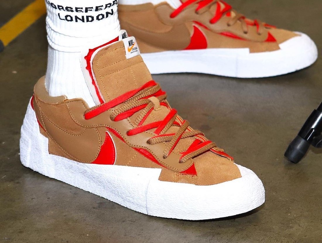Sacai Nike Blazer Low Light British Tan DD1877-200