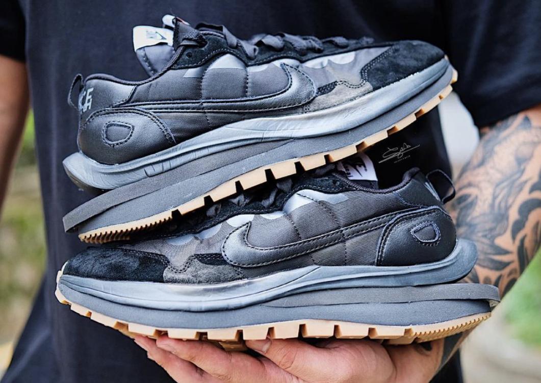 Sacai x Nike VaporWaffle Off-Noir Black Gum DD1875-001 Release Date