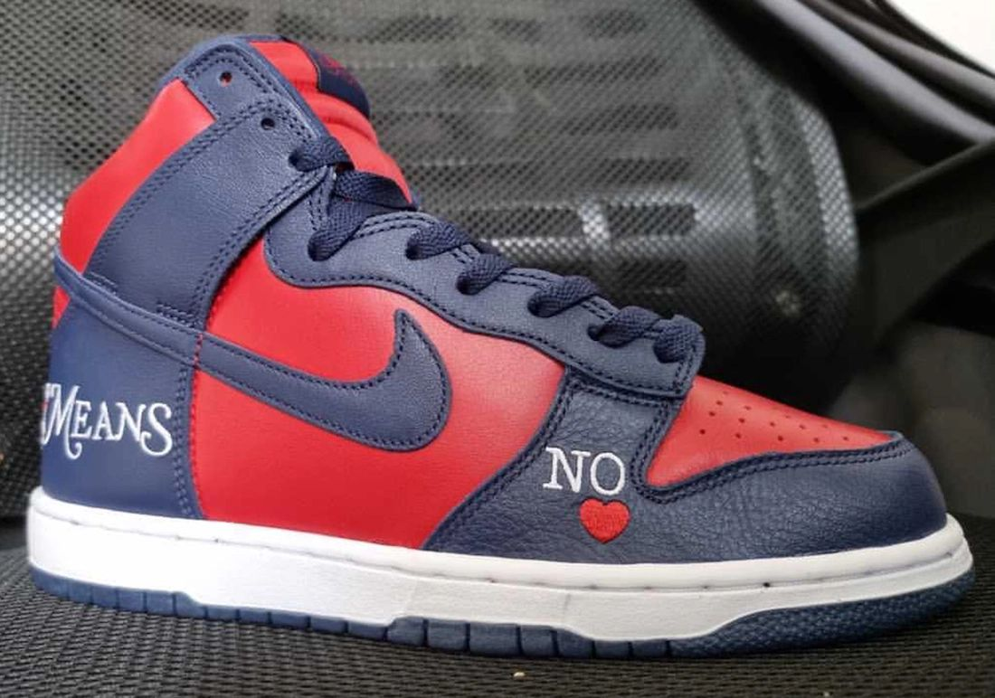 Supreme Nike SB Dunk High Navy Red Date de sortie