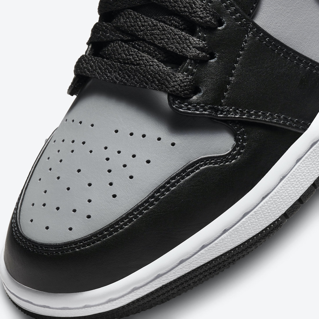 Air Jordan 1 Mid Black Grey Red 554724-096 Release Date Info