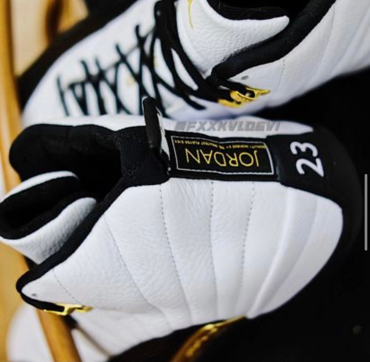 Air Jordan 12 Royalty White Black Gold CT8013-170 Release Info