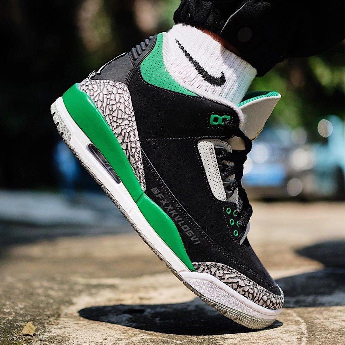 Air Jordan 3 Pine Green CT8532-030 On-Feet