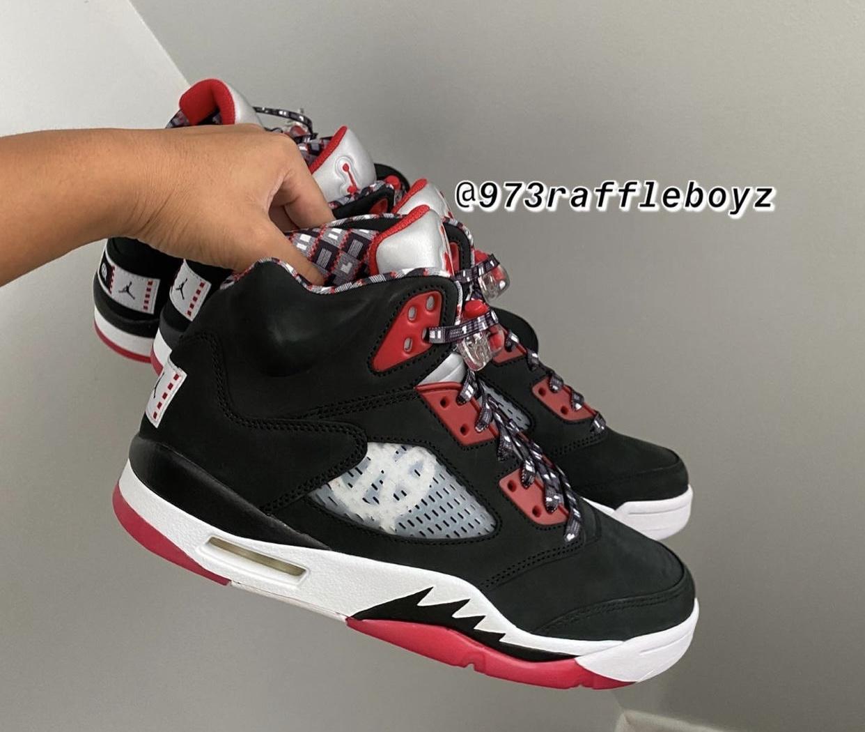 Air Jordan 5 Quai 54 Black Friends Family