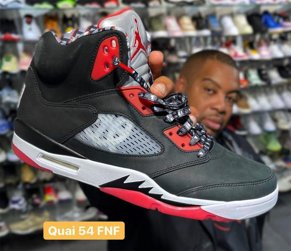 Air Jordan 5 Quai 54 Friends Family 2021 Black Release Date Info