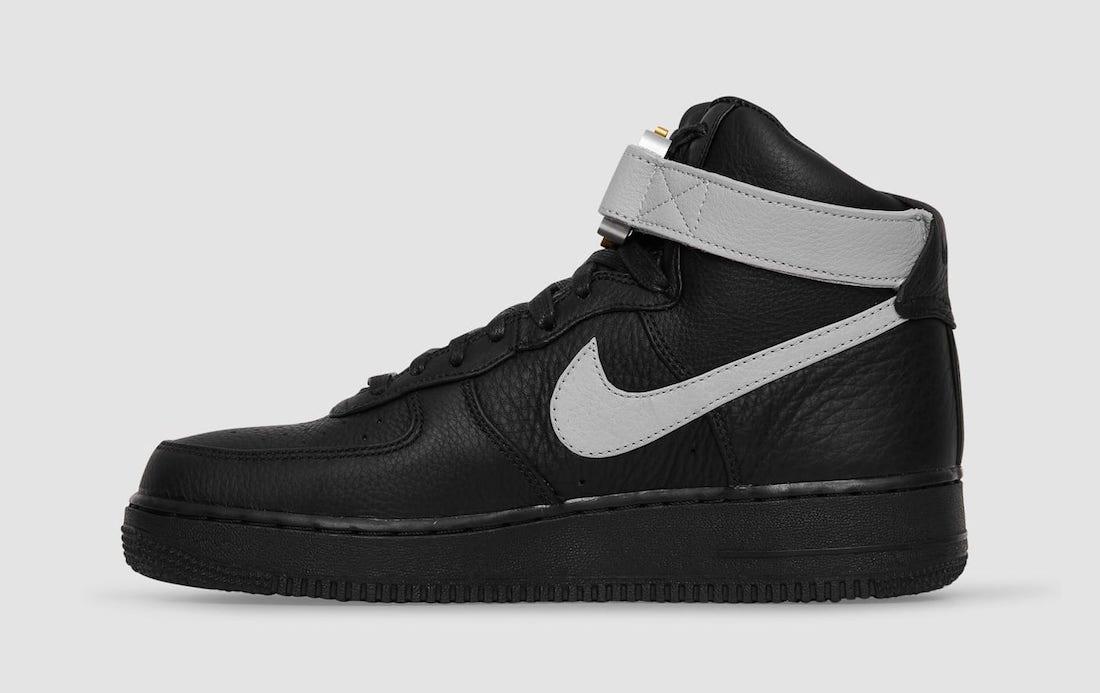 Alyx x Nike Air Force 1 High Black Wolf Grey CQ4018-003 Release Date Info