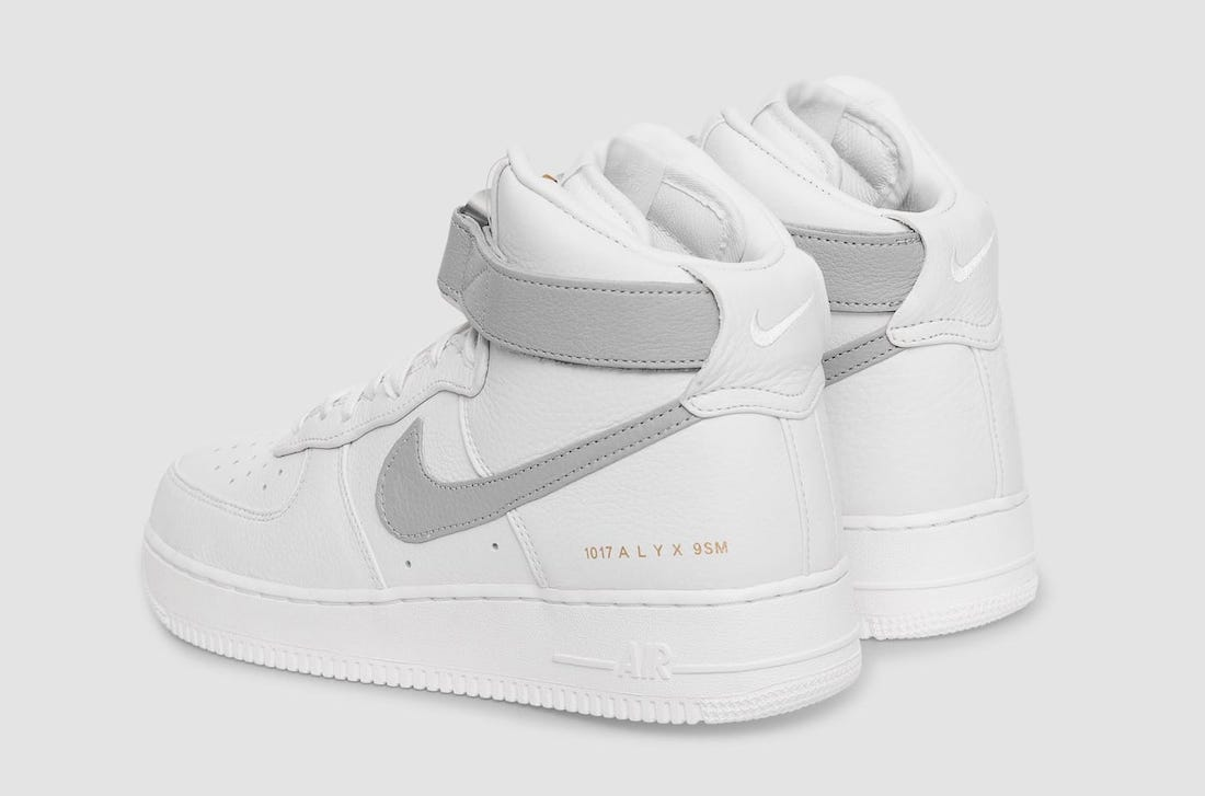 Alyx x Nike Air Force 1 High White Wolf Grey CQ4018-104 Release Date Info