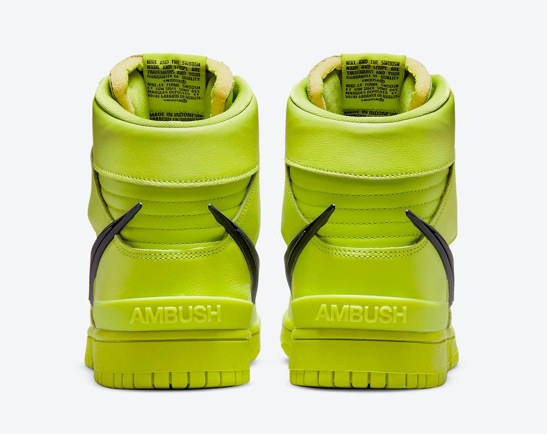 ambush nike dunk high flash lime CU7544 300 release date 4