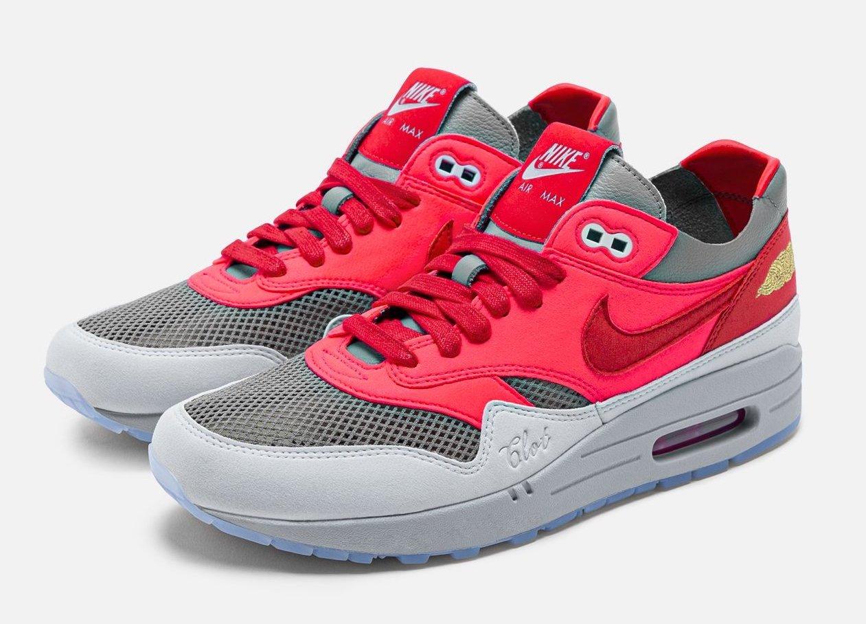 CLOT x Nike Air Max 1 K.O.D. Solar Red DD1870-600 Release