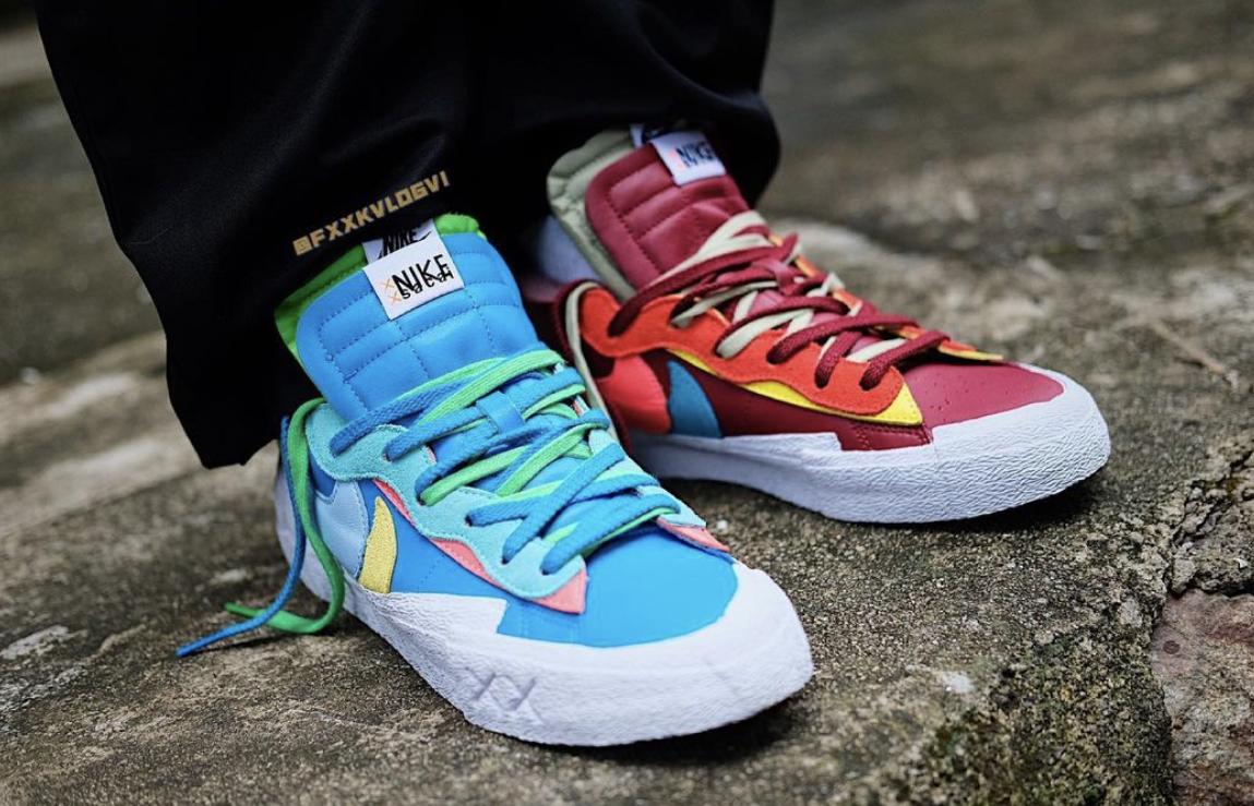 Kaws Sacai Nike Blazer Low DM7901-400 DM7901-600 Release Info Price
