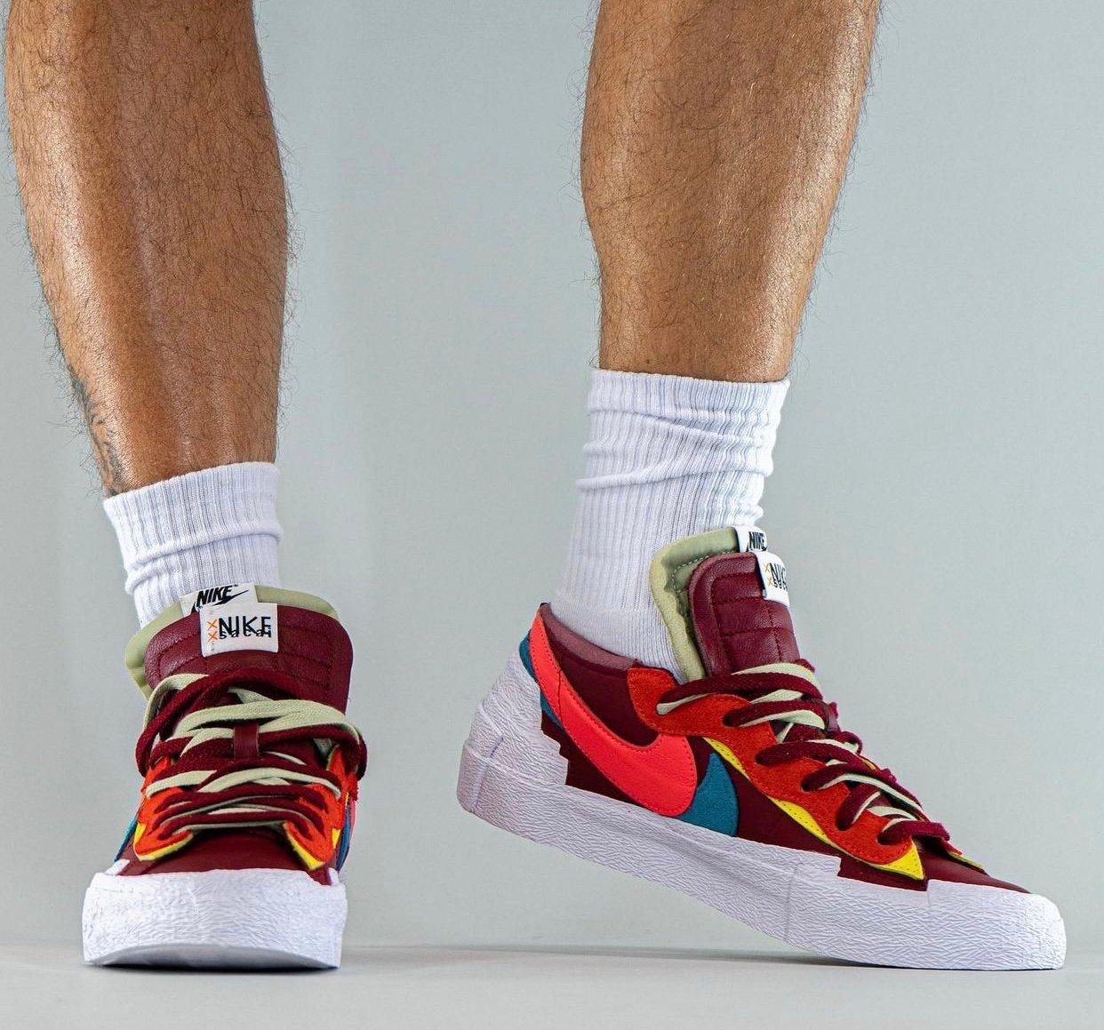Kaws Sacai Nike Blazer Low DM7901-600 On-Feet