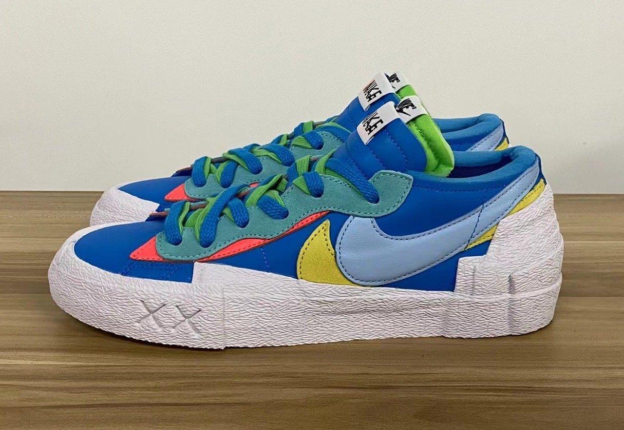 Kaws Sacai Nike Blazer Low Blue DM7901-400 Release Date