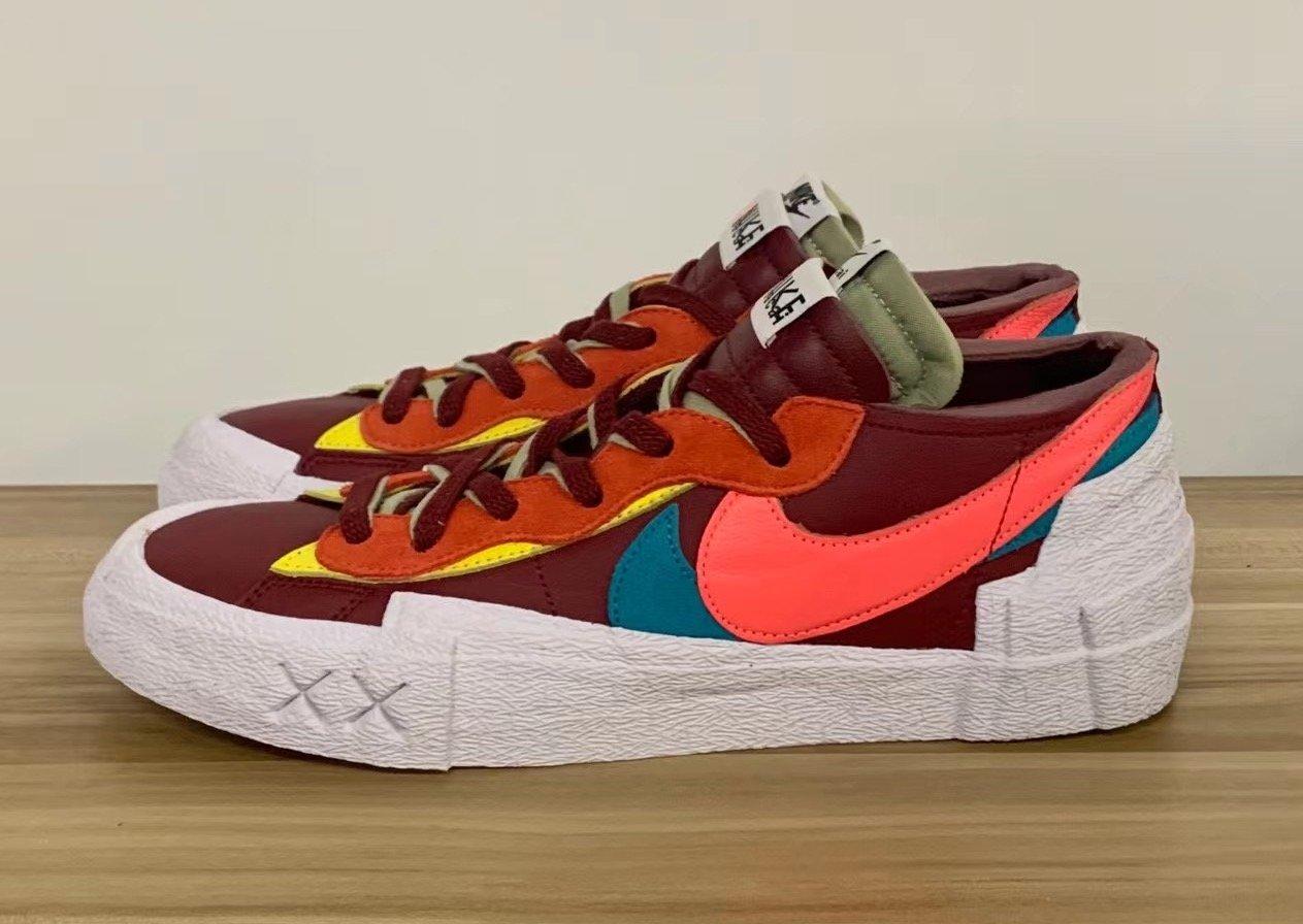 Kaws Sacai Nike Blazer Low Red DM7901-600 Release Date