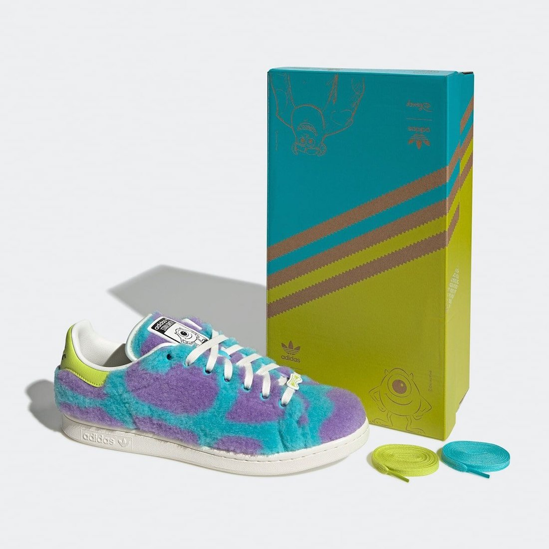 Monsters Inc Pixar adidas Stan Smith Mike Sulley GZ5990 Release Date Info