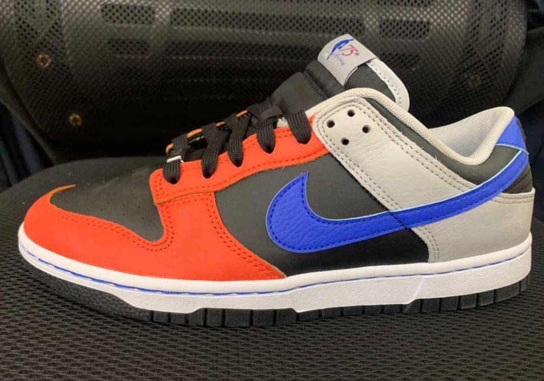 NBA Nike Dunk Low 75th Anniversary Black Racer Blue Grey Fog Orange DD3363-002 Release Date