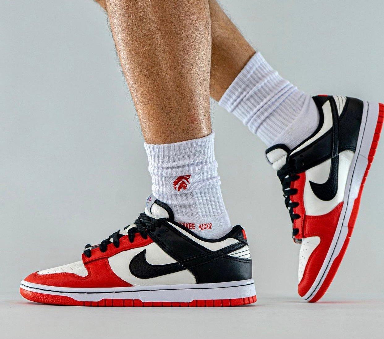NBA Nike Dunk Low Chicago 75th Anniversary DD3363-100 On-Feet
