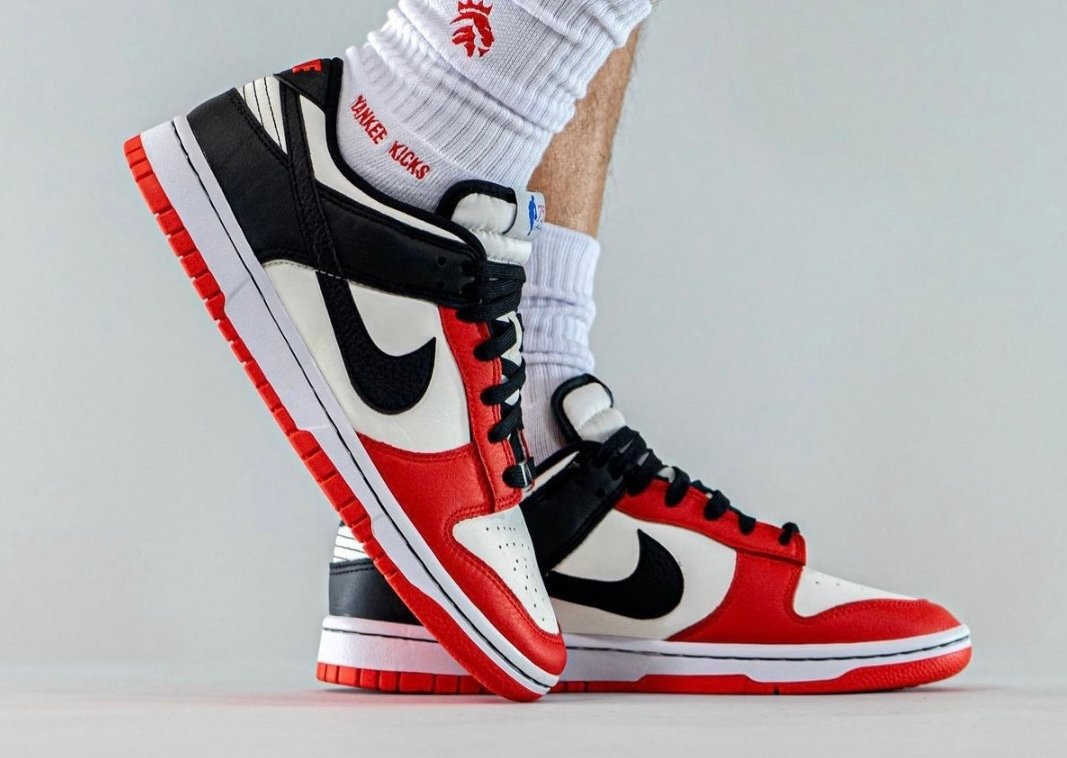 NBA Nike Dunk Low Chicago 75th Anniversary On-Feet