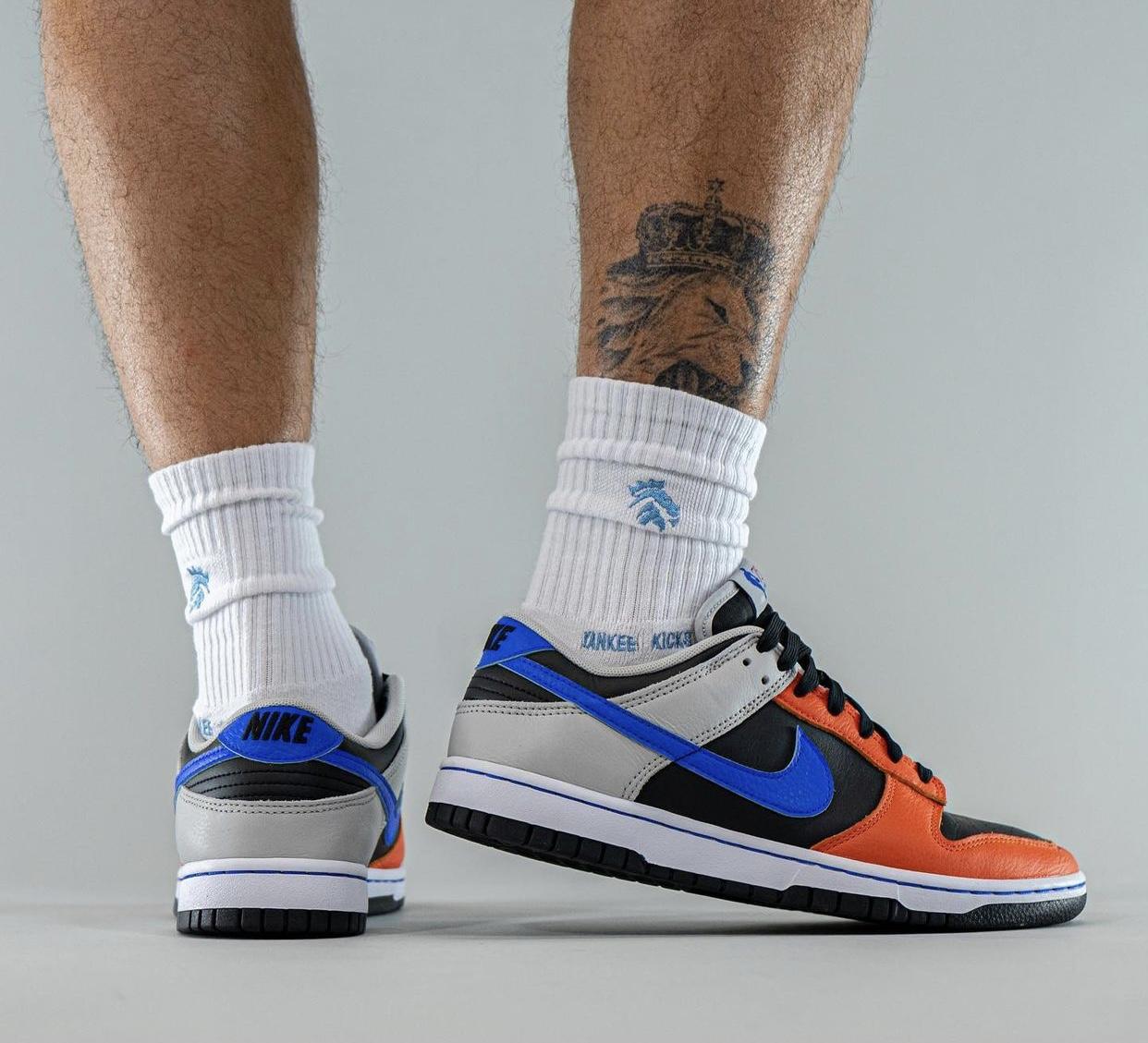 NBA Nike Dunk Low Knicks 75th Anniversary DD3363-002 On-Feet