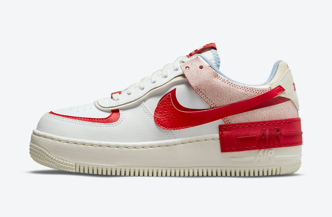 Nike Air Force 1 Shadow White Red Blue CI0919-108 Release Date Info