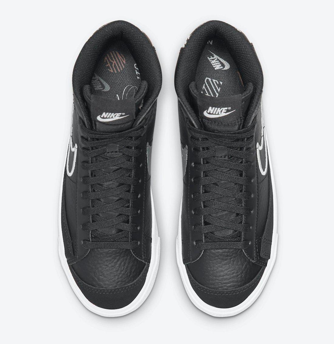 Nike Blazer Mid 77 GS Anthracite White Pink DJ0265-001 Release Date Info