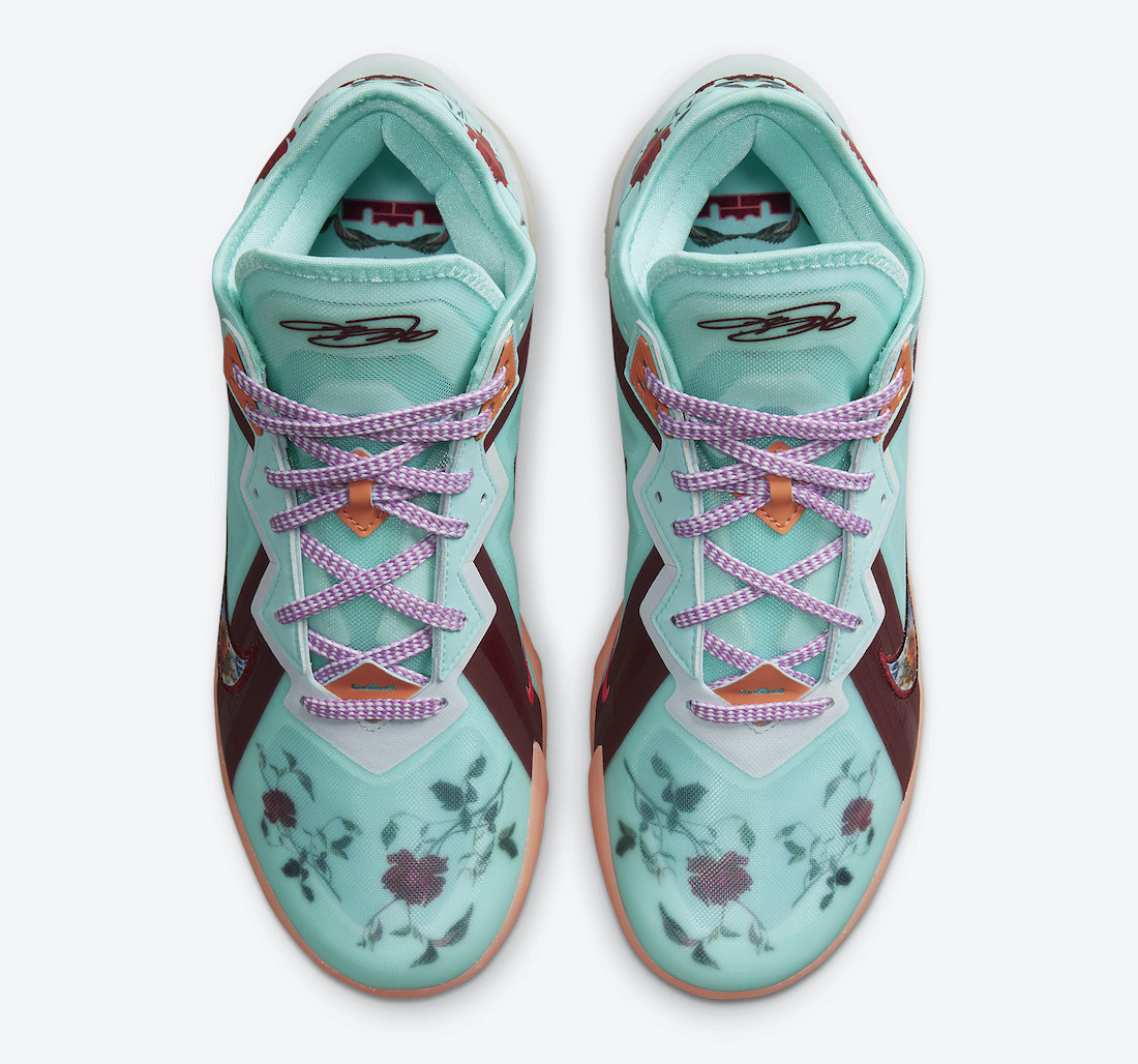 nike lebron 18 low floral CV7562 400 release date 3