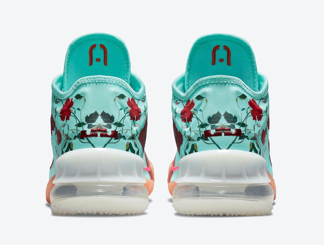 nike lebron 18 low floral CV7562 400 release date 4