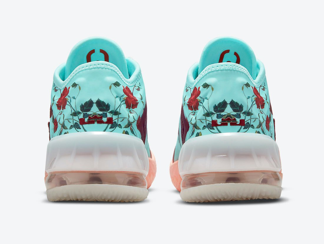 nike lebron 18 low gs floral dn4177 400 release date info 4
