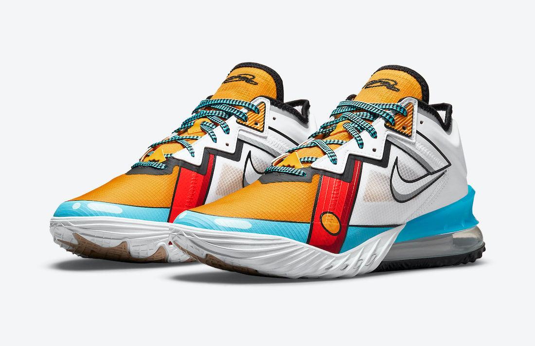 Nike LeBron 18 Low Stewie Griffin Cartoon Art CV7562-104 Release Date