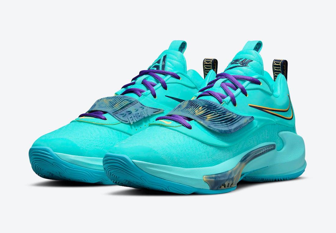 Nike Zoom Freak 3 Aqua DA0695-400 Release Date Info
