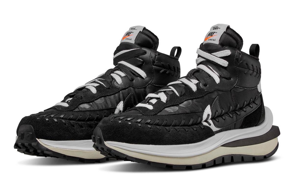 Sacai Jean Paul Gaultier Nike VaporWaffle Black DH9186-001 Release Info Price