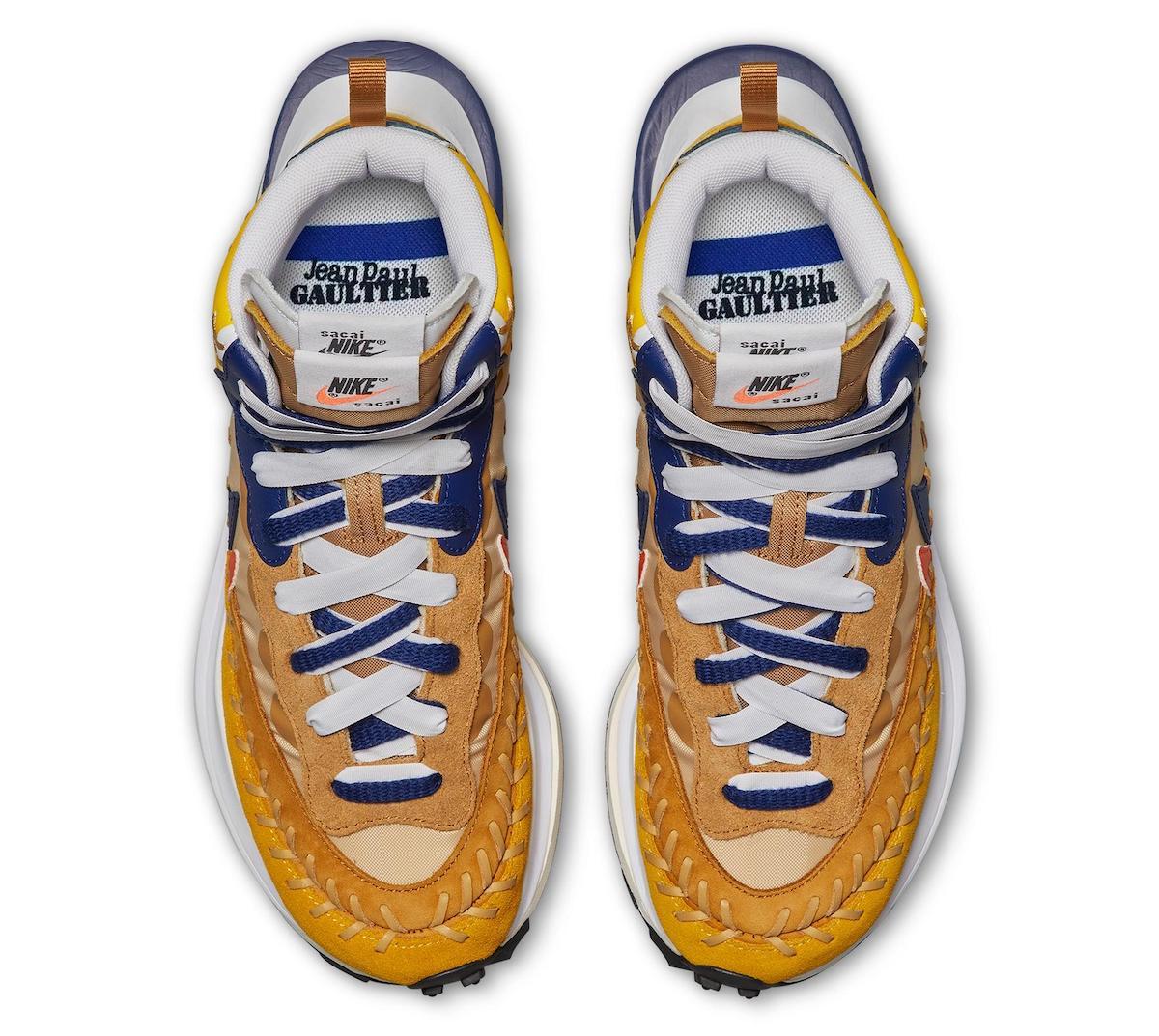 sacai jean paul gaultier nike vaporwaffle sesame DH9186 200 release info price 3