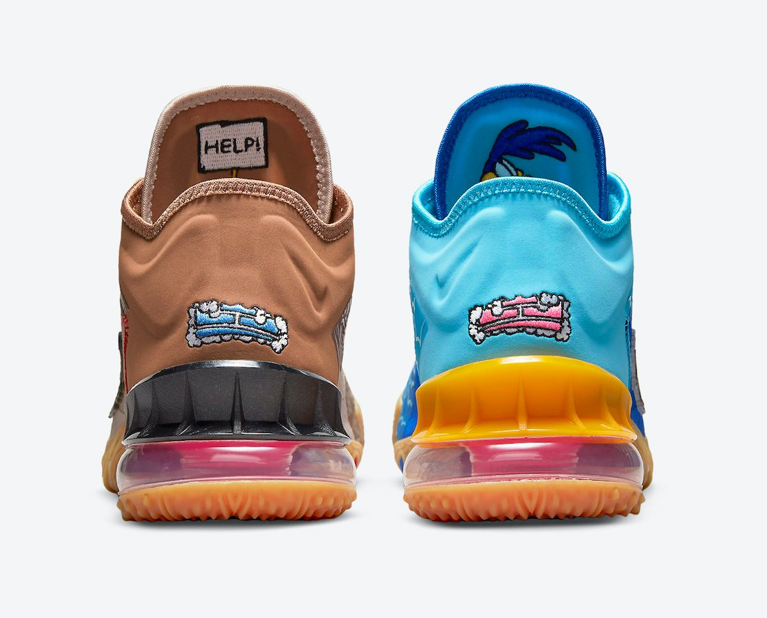 Space Jam Nike LeBron 18 Low Wile E. Roadrunner CV7562-401 Release Date Info
