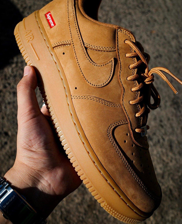 Supreme Nike Air Force 1 Wheat Flax Release Date