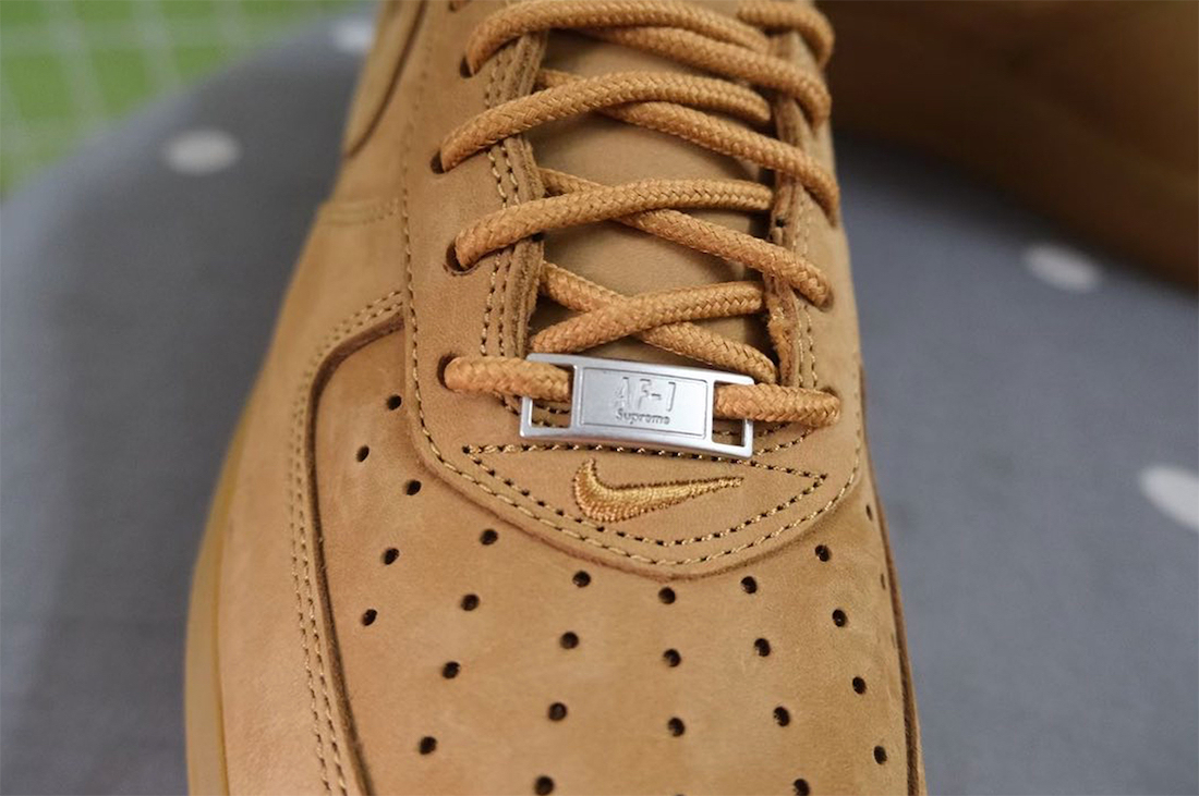 Supreme Nike Air Force 1 Low Wheat Flax Release Date