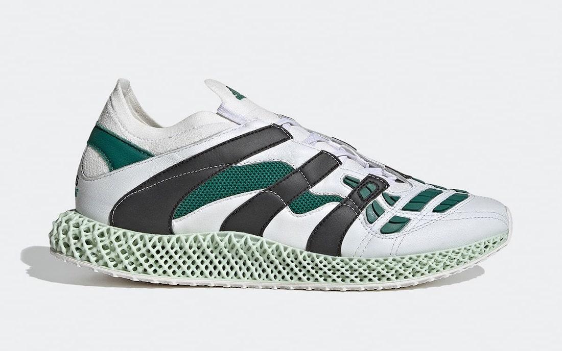adidas Predator Accelerator 4D EQT White Black Sub Green GX0223 Release Date Info