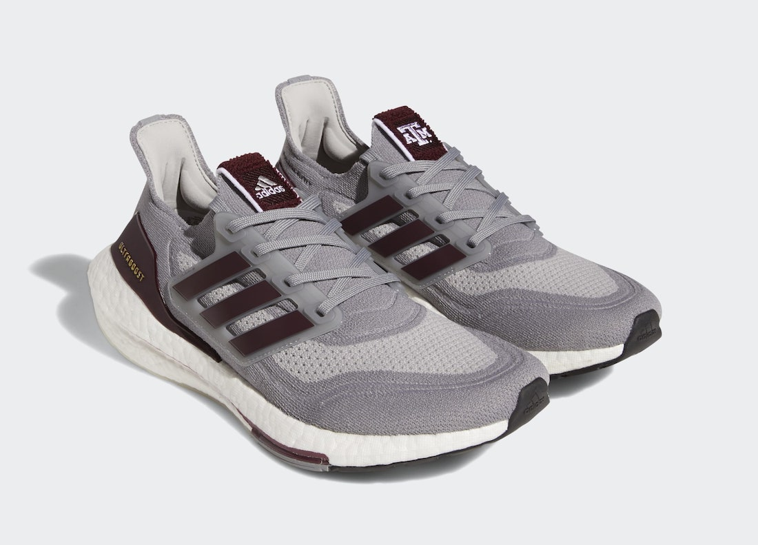 adidas Ultra Boost 2021 Texas A and M GY0429 Release Date Info