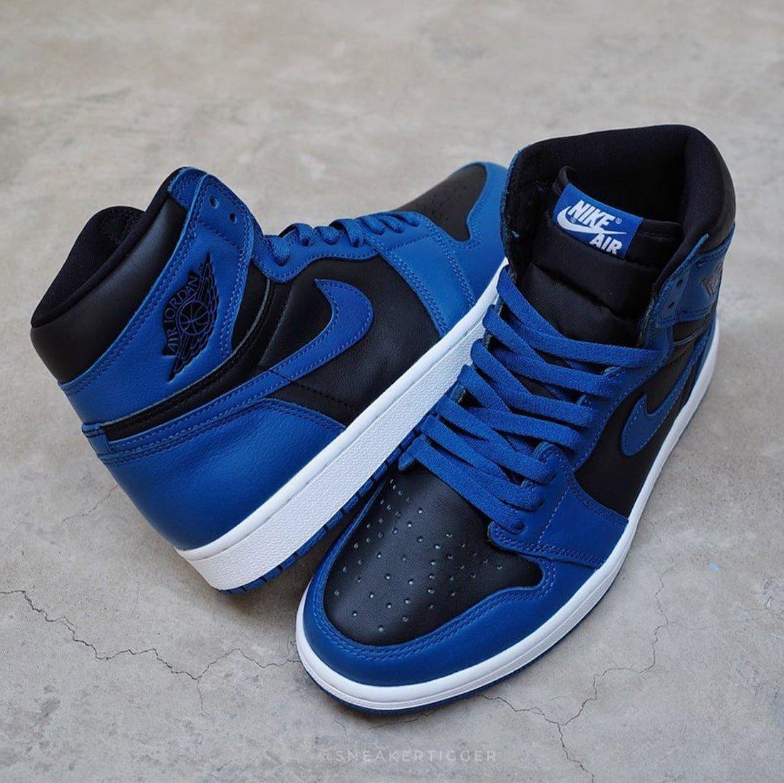 Air Jordan 1 High Dark Marina Blue 555088-404 Release Info