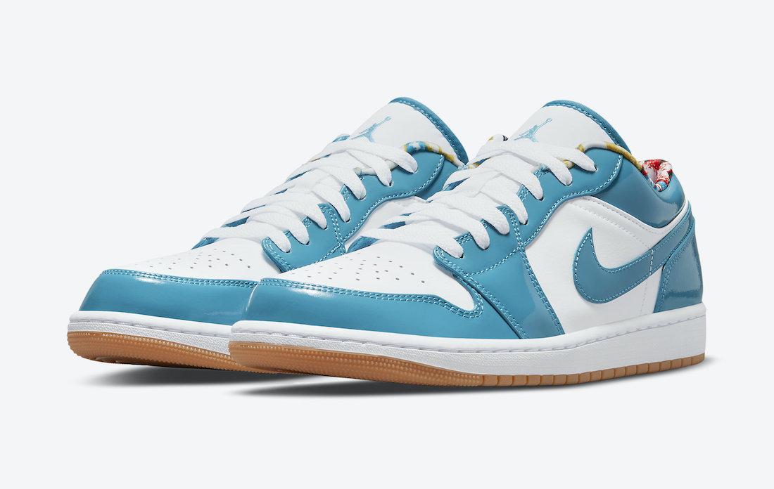 Air Jordan 1 Low Blue Patent Leather Gum Soles DC6991-400 Release Date Info