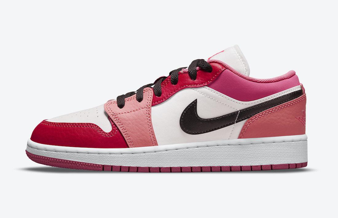 Air Jordan 1 Low GS Pink Red 553560-162 Release Date Info