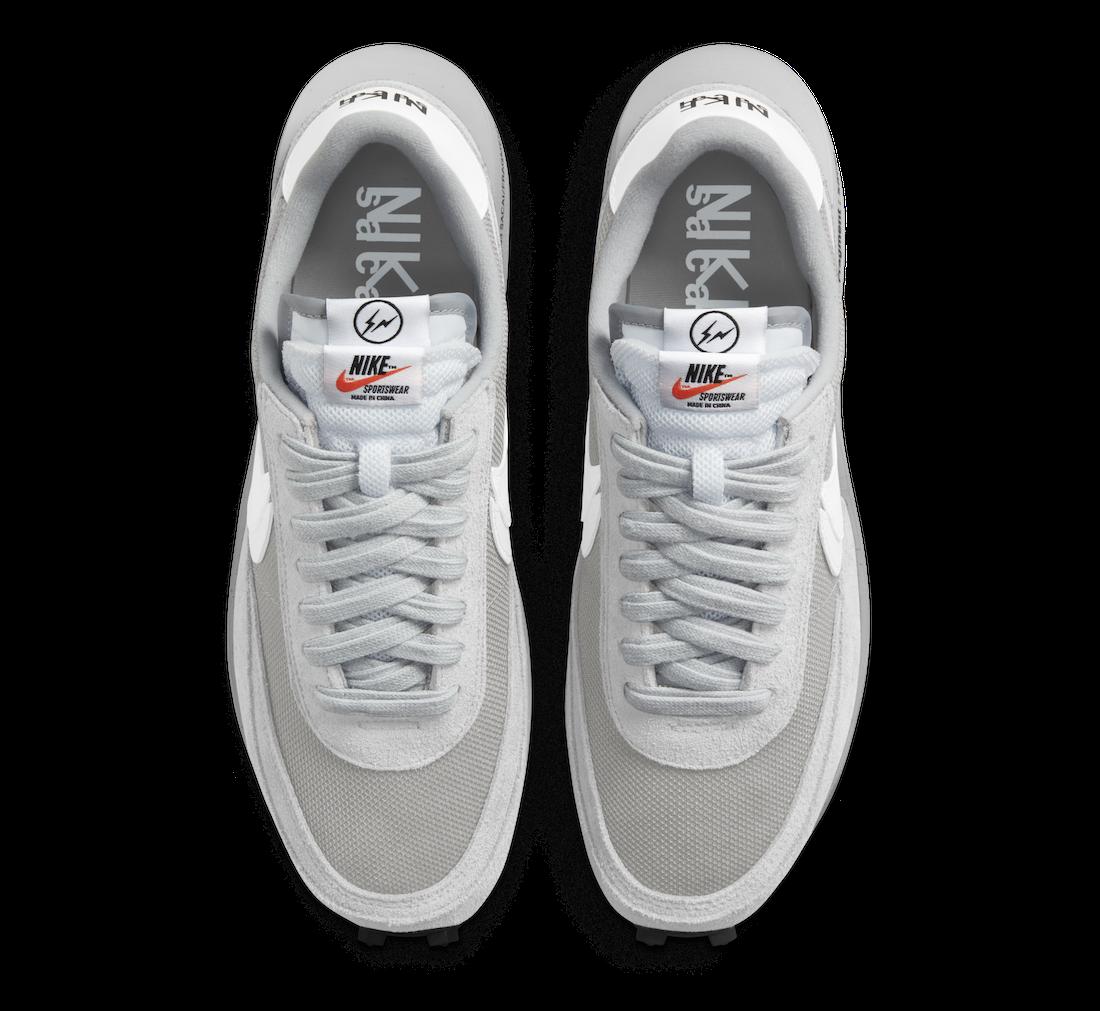 Fragment Sacai Nike LDWaffle Light Smoke Grey DH2684-001 Release Date