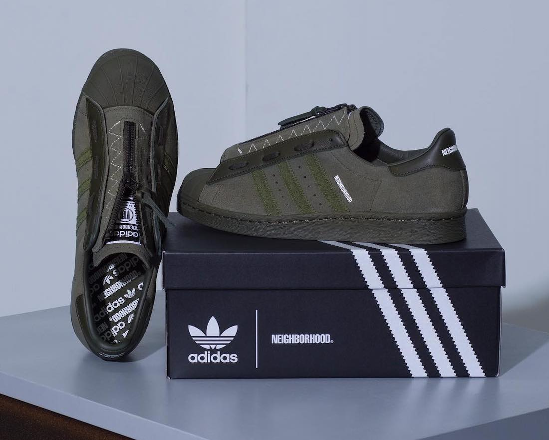 Neighborhood x adidas Superstar 80s 2021 Release Date