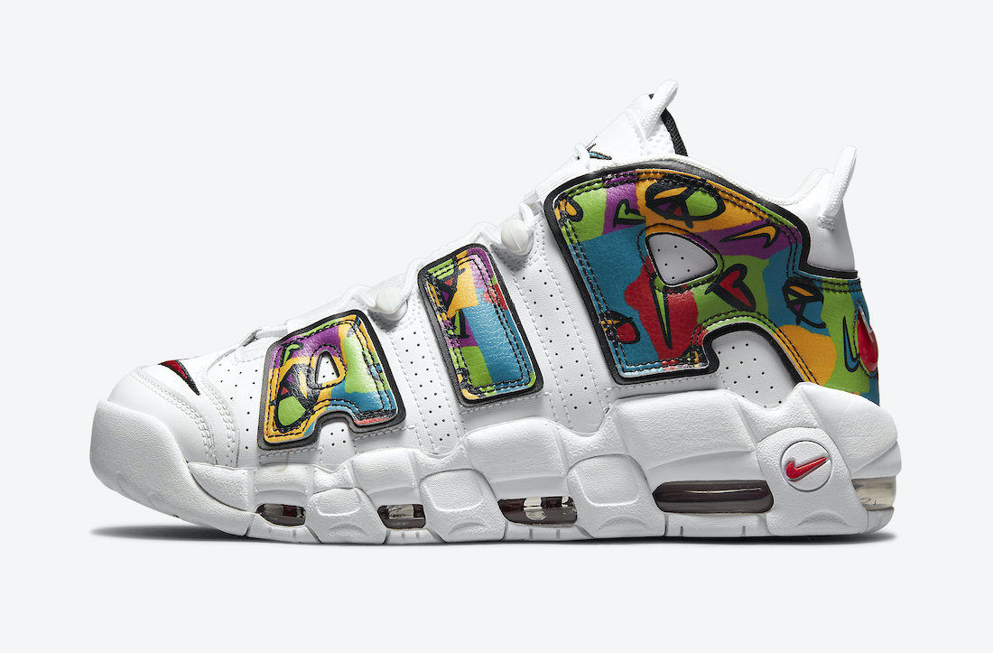 Nike Air More Uptempo Peace Love Swoosh DM8150-100 Release Date