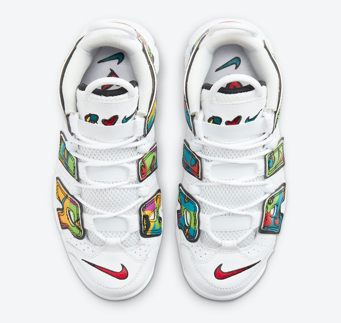 Nike Air More Uptempo Peace Love Swoosh DM8155-100 Release Date Info