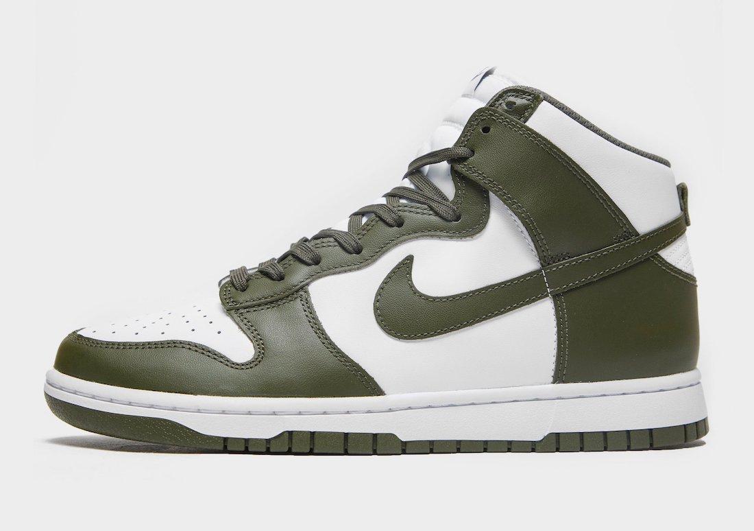Nike Dunk High White Cargo Khaki DD1399-107 Release Date Info