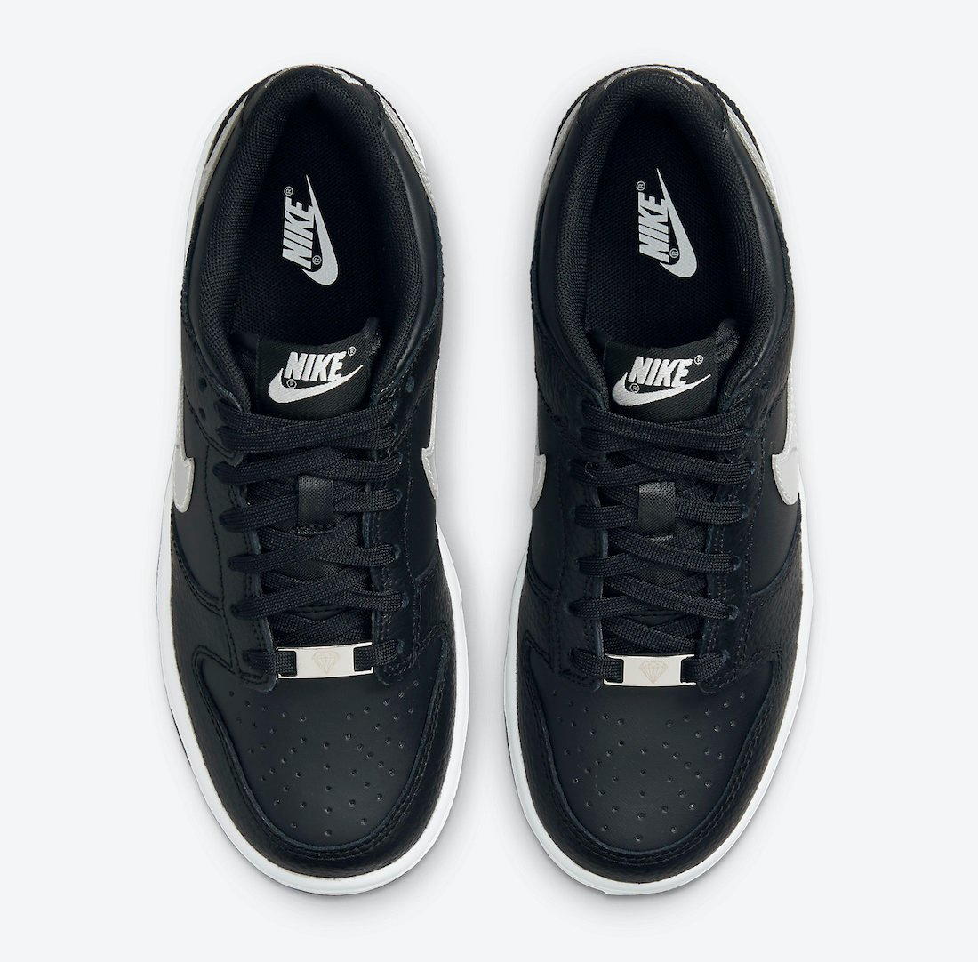 nike dunk low gs black sliver dc9560 001 release date info 3