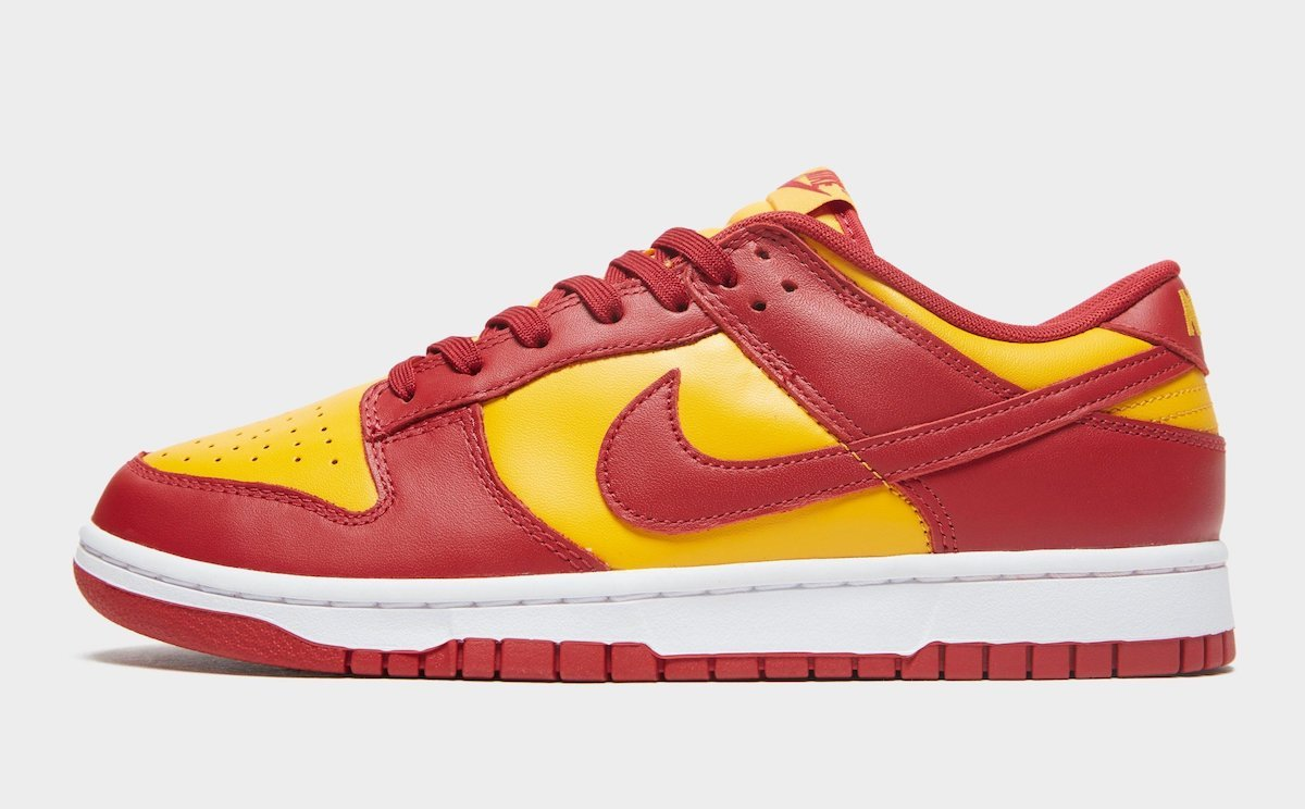 Nike Dunk Low Midas Gold Tough Red White DD1391-701 Release Date Info