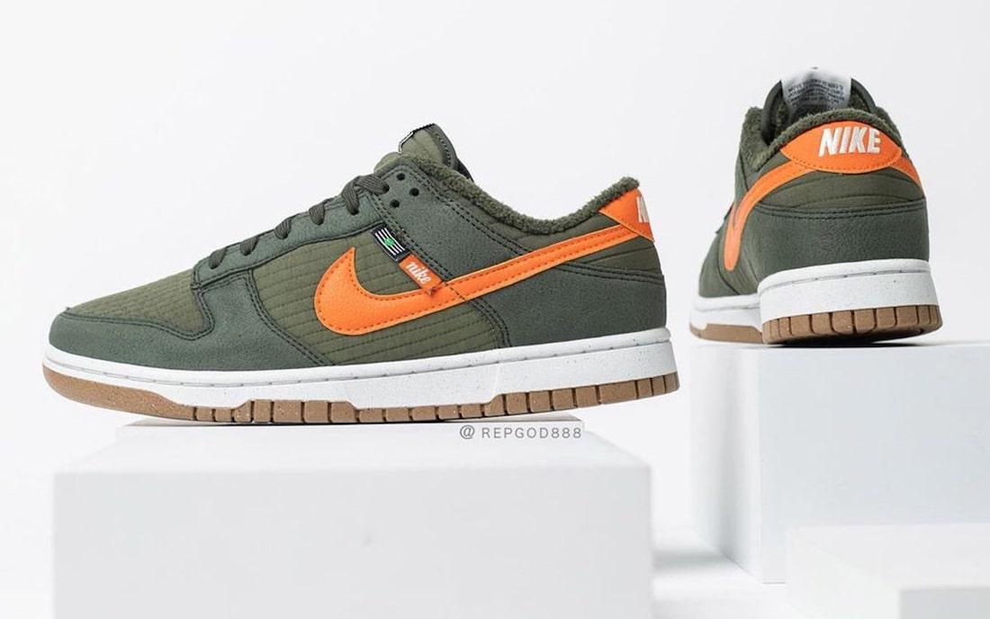 Nike Dunk Low Toasty Sequoia Orange Medium Olive Sail DD3358-300 Release Date Info