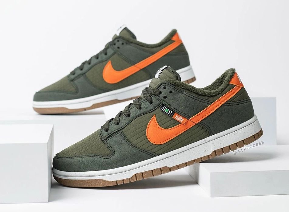 Nike Dunk Low Toasty Sequoia Orange Medium Olive Sail DD3358-300
