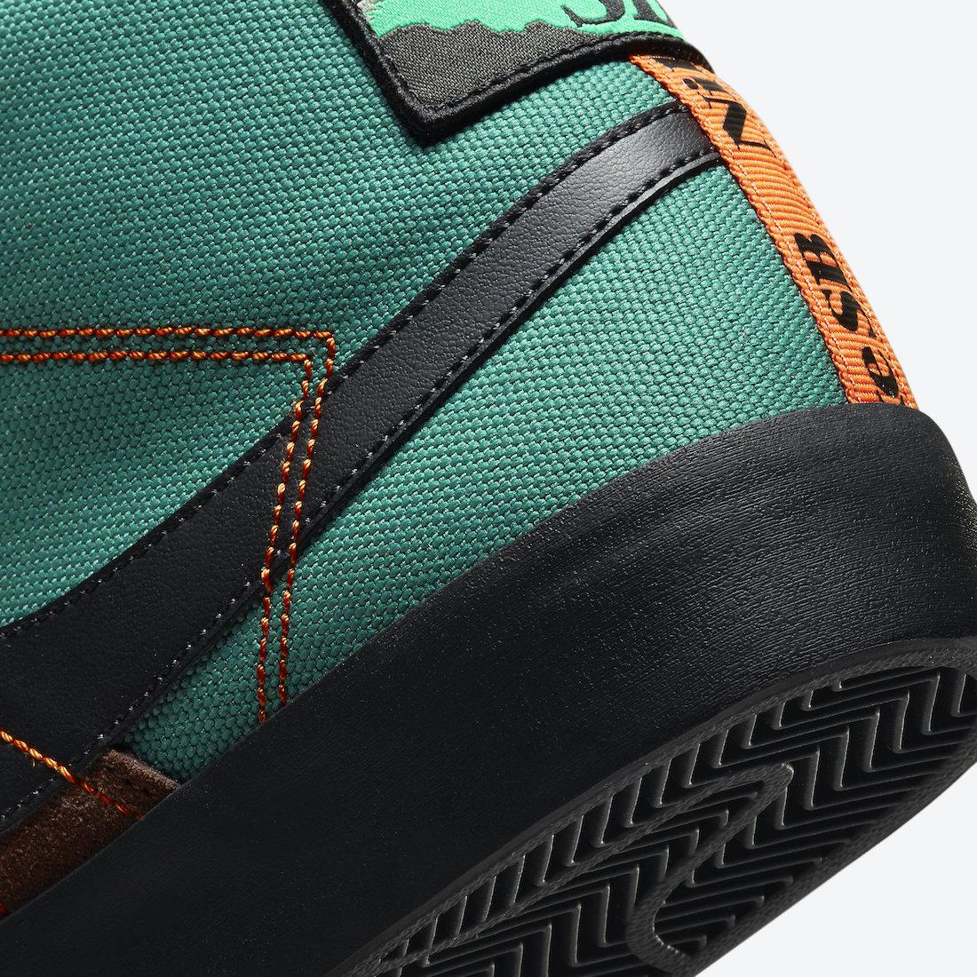 Nike SB Blazer Mid Acclimate Noble Green DC8903-300 Release Date Info