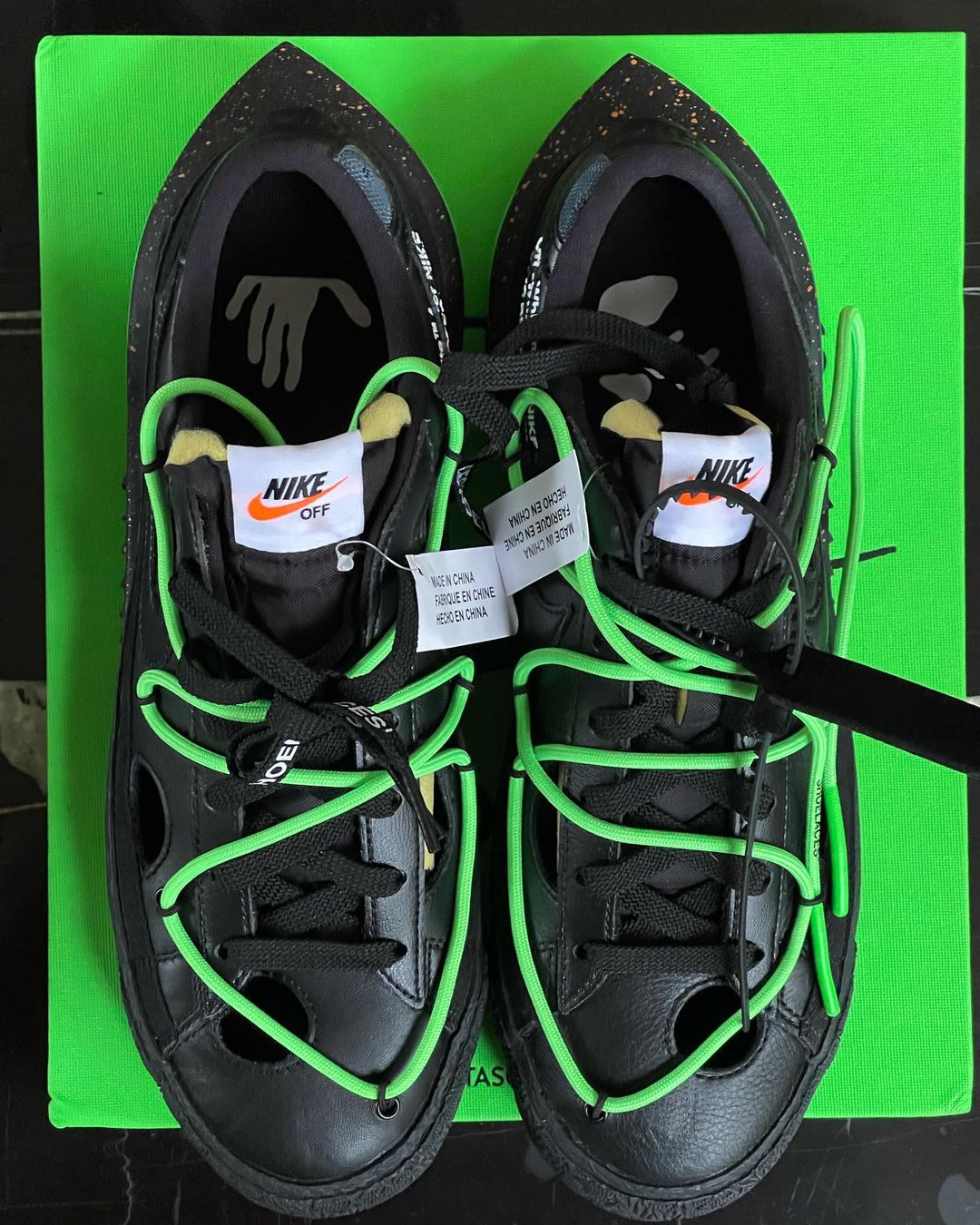 Off-White Nike Blazer Low Black Green Release Info
